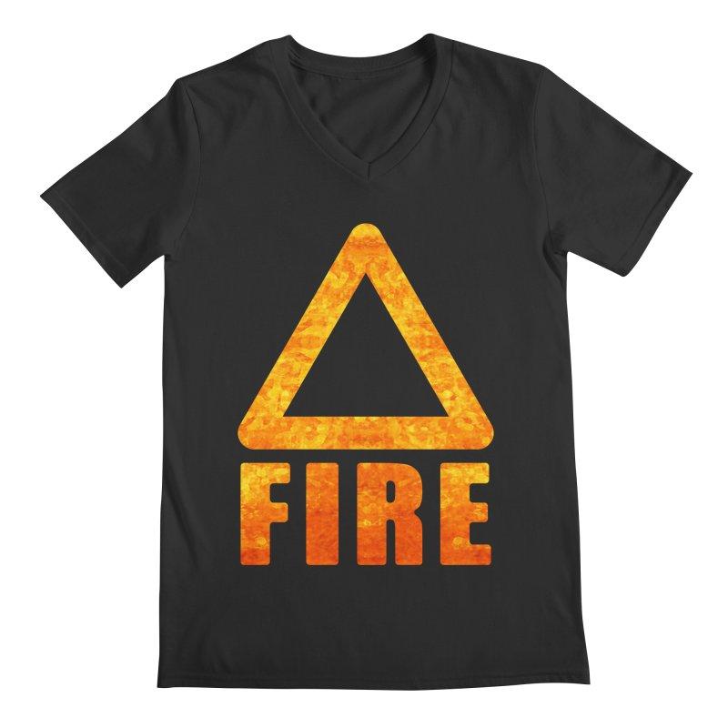 Fire Sign Men's Regular V-Neck by earthfiredragon