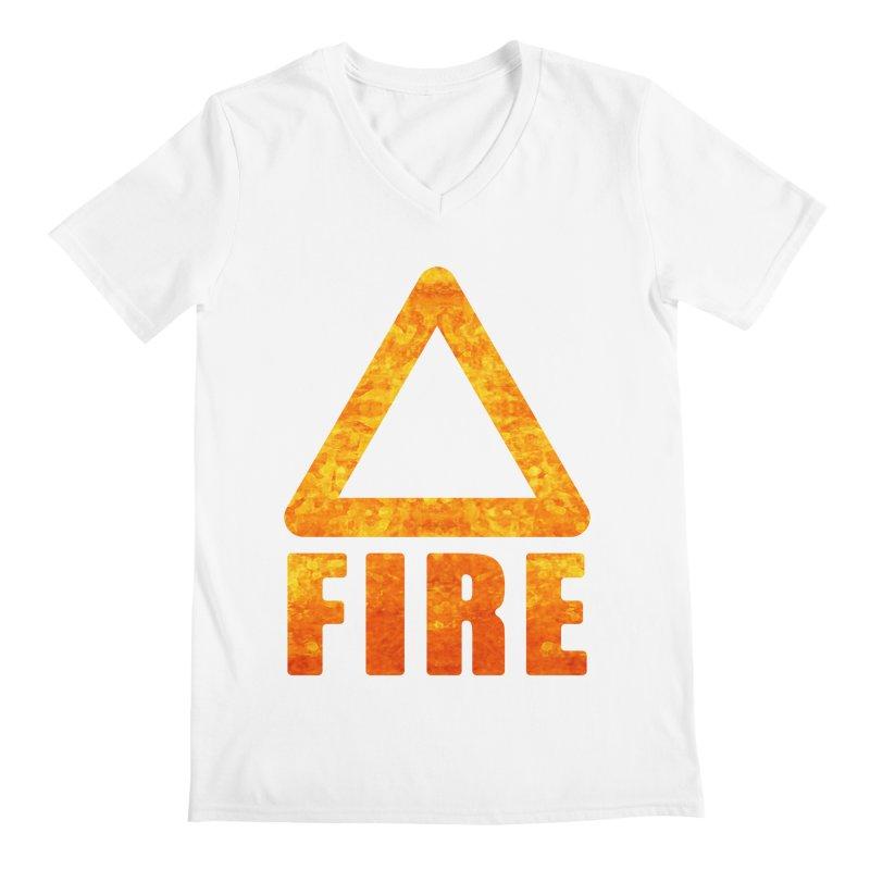 Fire Sign Men's V-Neck by earthfiredragon