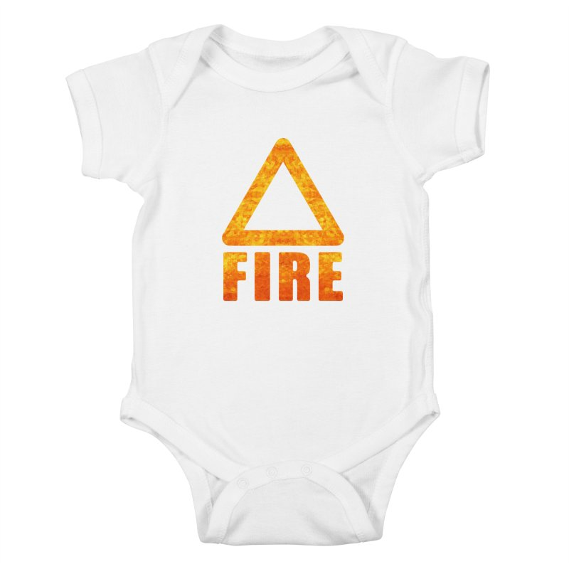 Fire Sign Kids Baby Bodysuit by earthfiredragon
