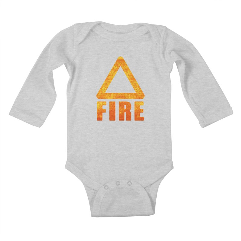 Fire Sign Kids Baby Longsleeve Bodysuit by earthfiredragon