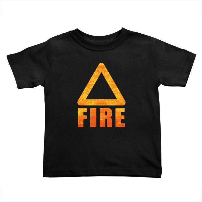 Fire Sign Kids Toddler T-Shirt by earthfiredragon