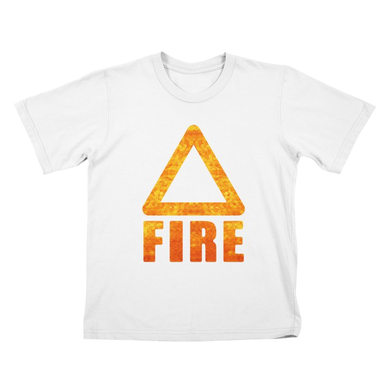Fire Sign Kids T-Shirt by earthfiredragon