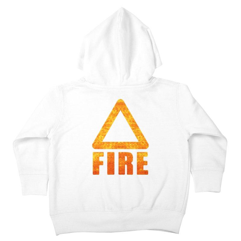 Fire Sign Kids Toddler Zip-Up Hoody by earthfiredragon