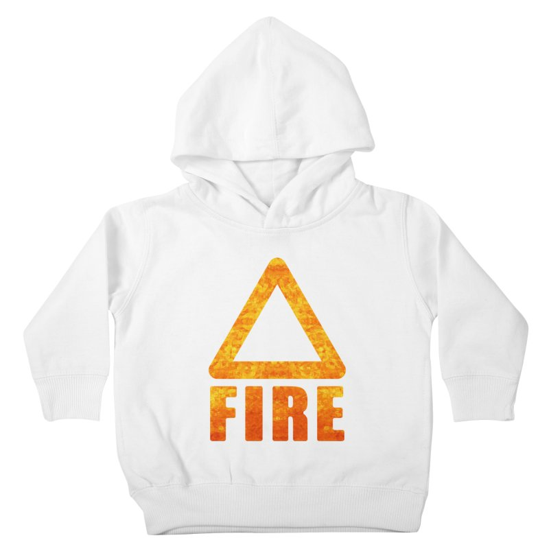 Fire Sign Kids Toddler Pullover Hoody by earthfiredragon
