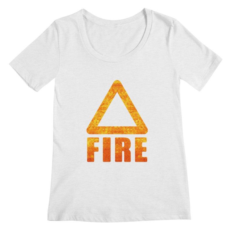 Fire Sign Women's Regular Scoop Neck by earthfiredragon