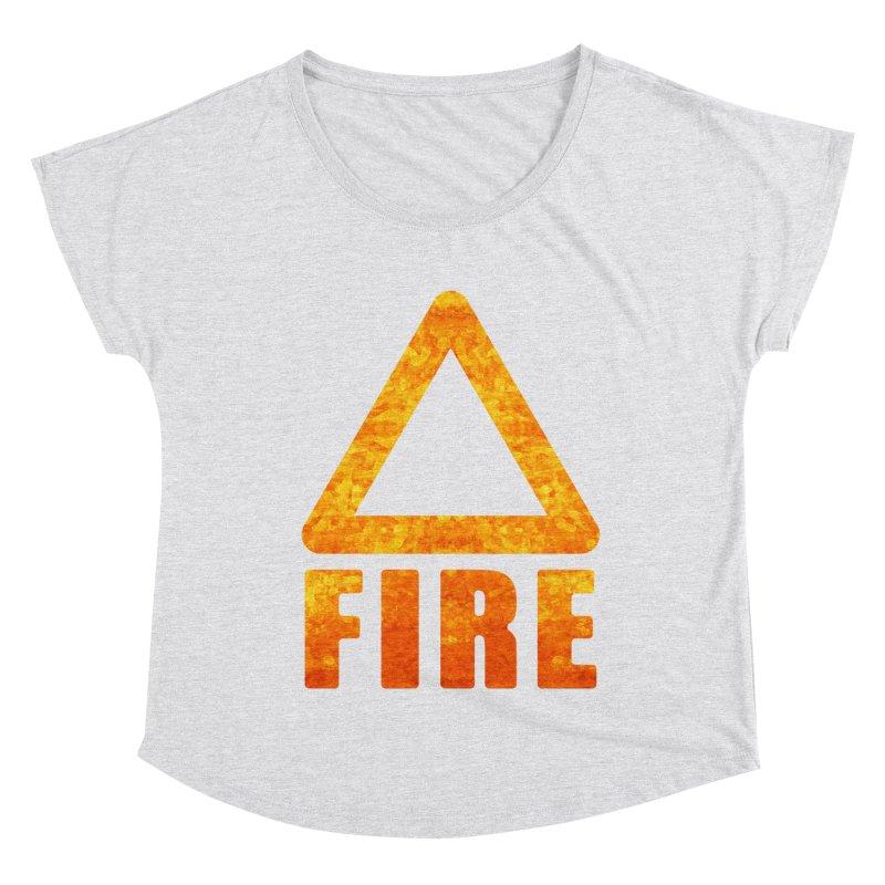 Fire Sign Women's Dolman Scoop Neck by earthfiredragon