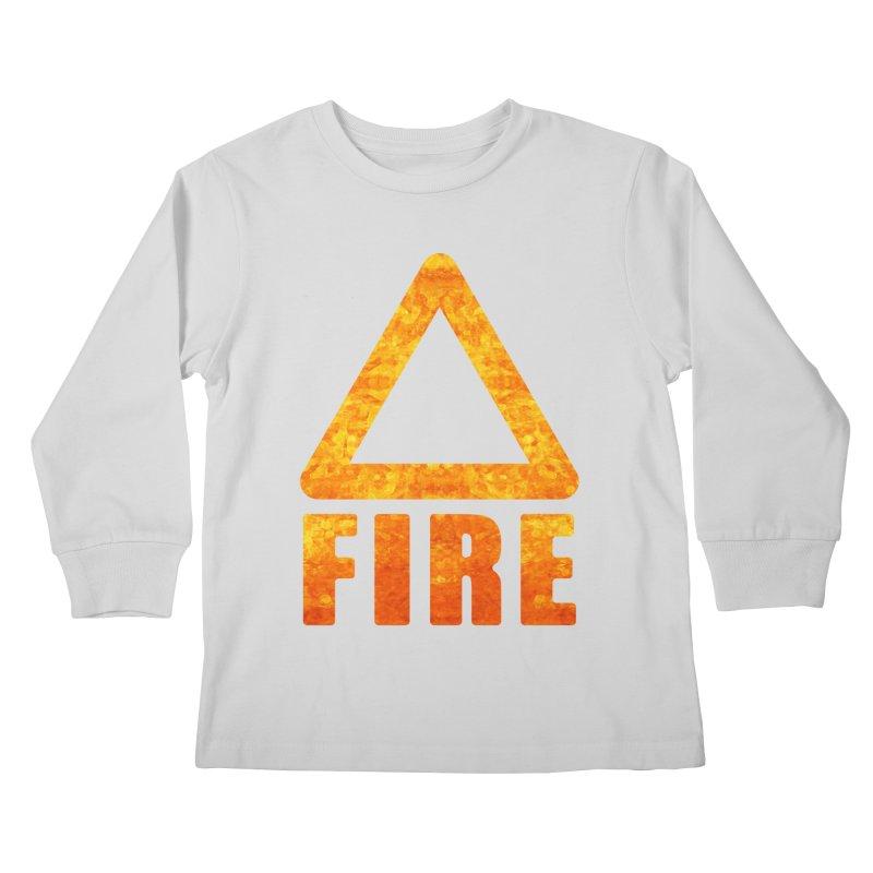 Fire Sign Kids Longsleeve T-Shirt by earthfiredragon
