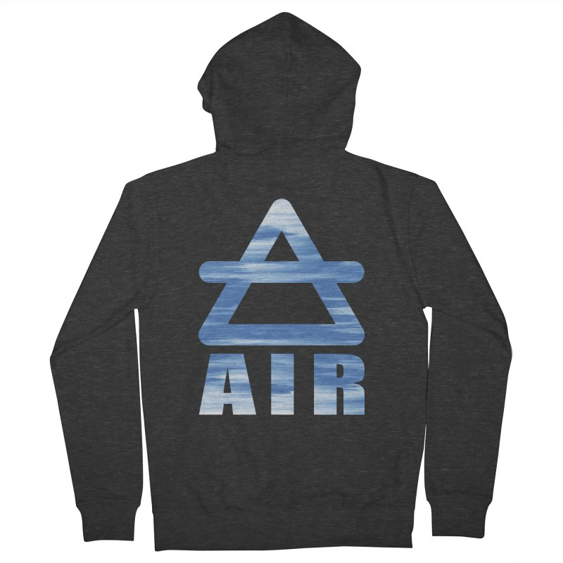 Air Sign Men's French Terry Zip-Up Hoody by earthfiredragon
