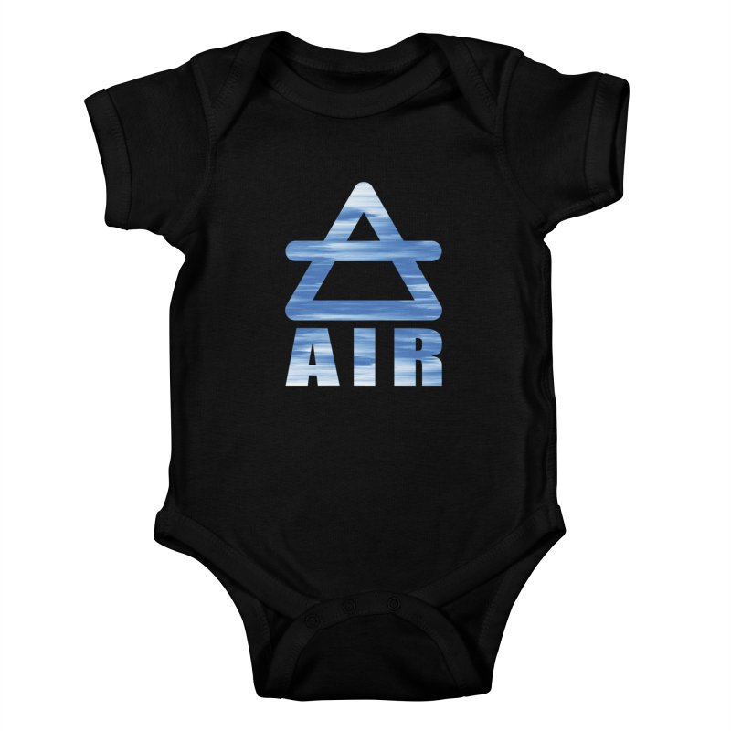 Air Sign Kids Baby Bodysuit by earthfiredragon