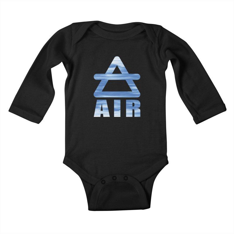 Air Sign Kids Baby Longsleeve Bodysuit by earthfiredragon