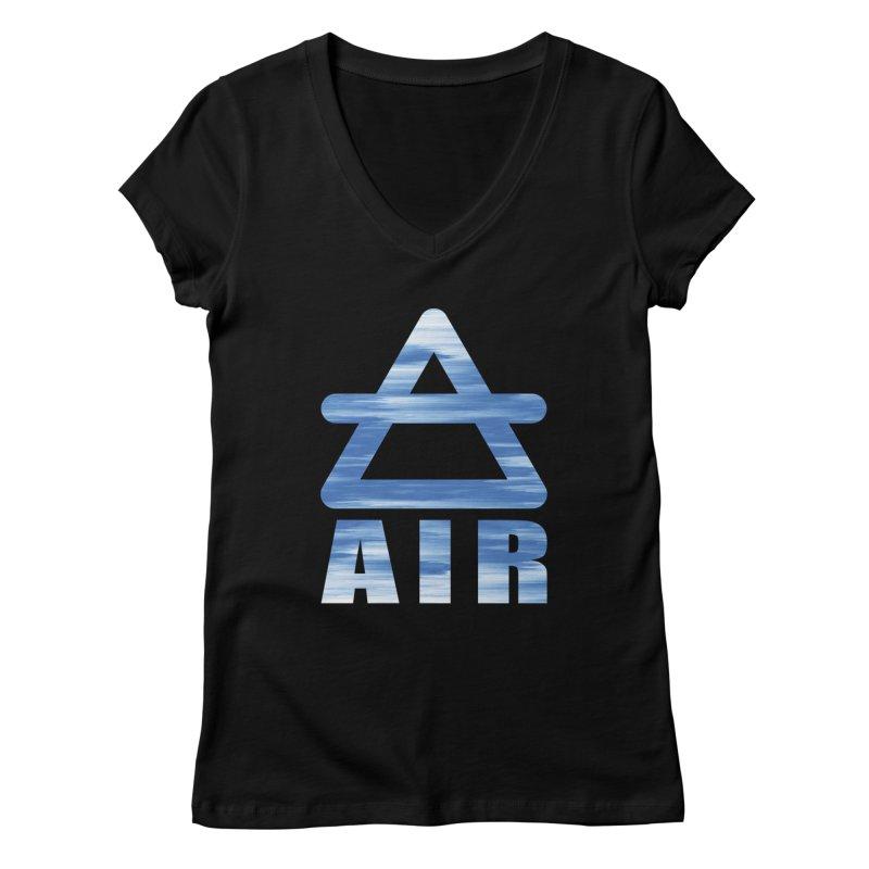 Air Sign Women's V-Neck by earthfiredragon