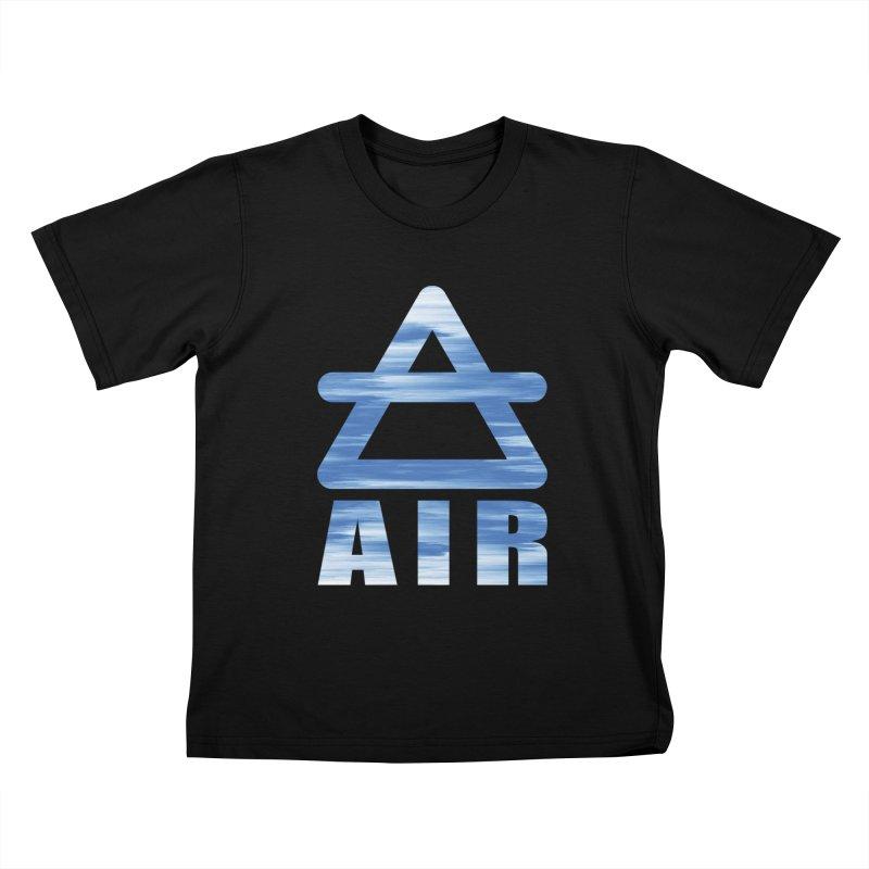 Air Sign Kids T-Shirt by earthfiredragon