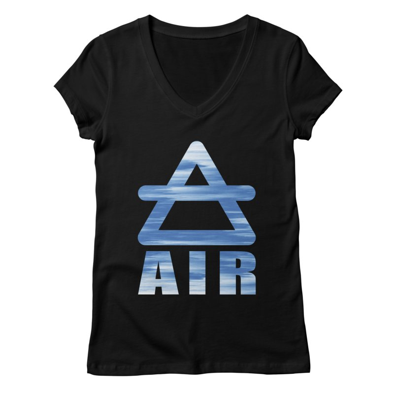 Air Sign Women's V-Neck by earthfiredragon