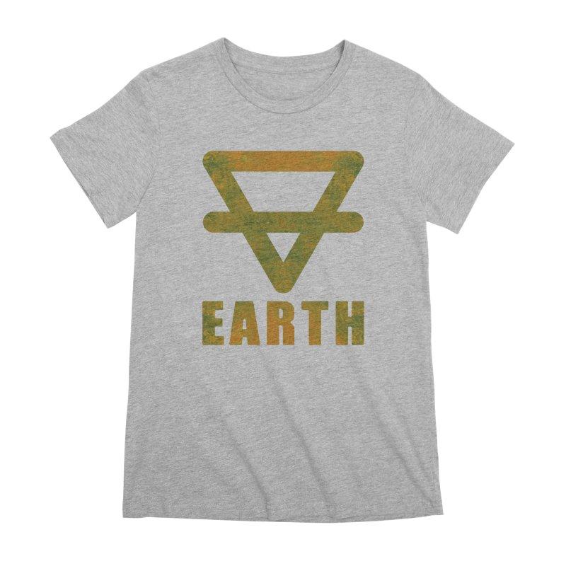 Earth Sign Women's Premium T-Shirt by earthfiredragon