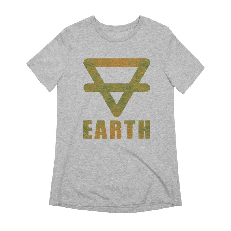 Earth Sign Women's Extra Soft T-Shirt by earthfiredragon