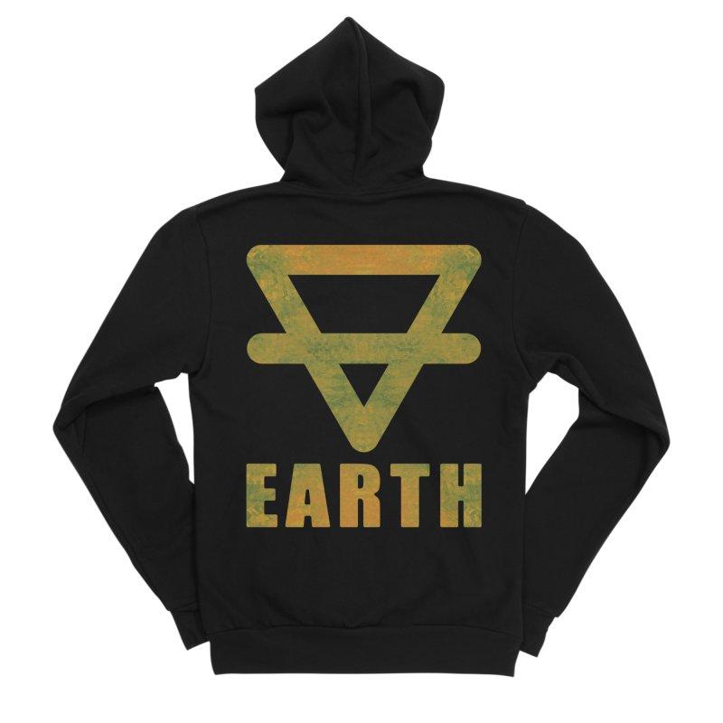 Earth Sign Women's Sponge Fleece Zip-Up Hoody by earthfiredragon