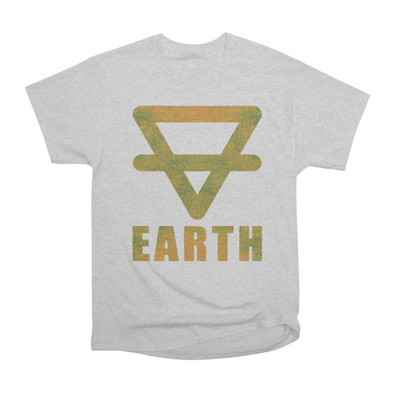 Earth Sign Men's Heavyweight T-Shirt by earthfiredragon