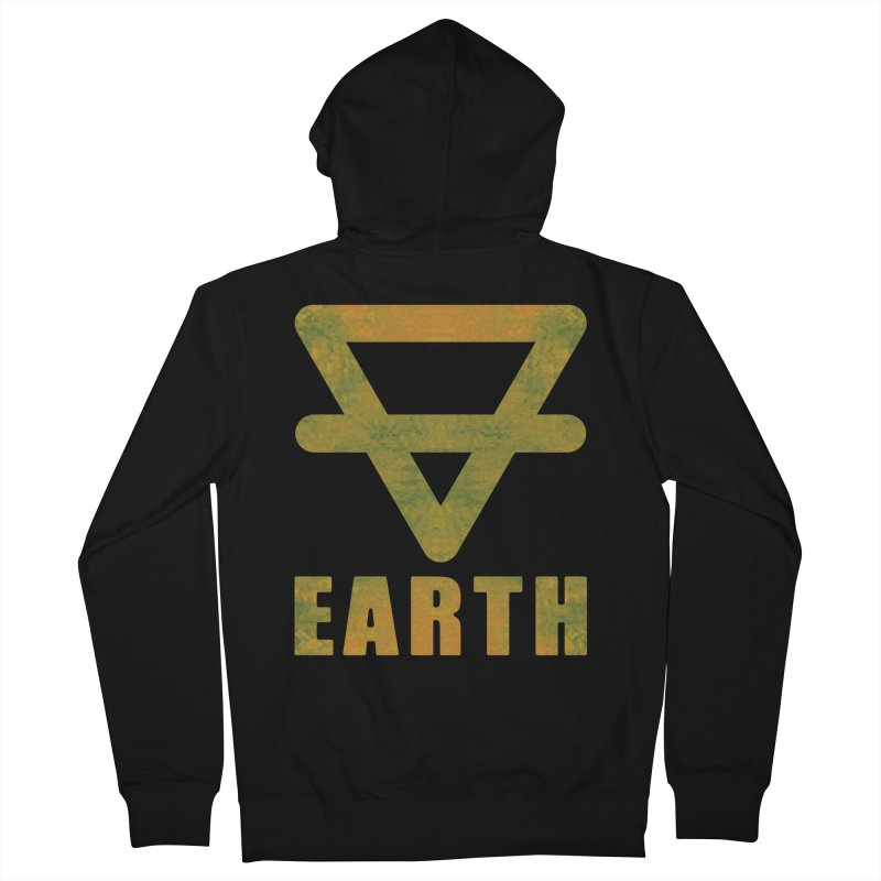 Earth Sign Men's French Terry Zip-Up Hoody by earthfiredragon