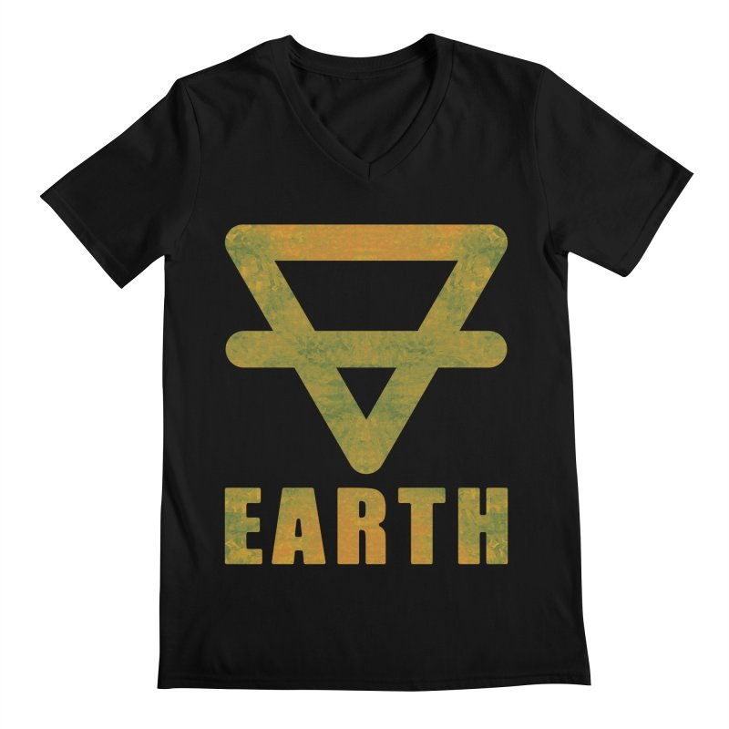 Earth Sign Men's V-Neck by earthfiredragon