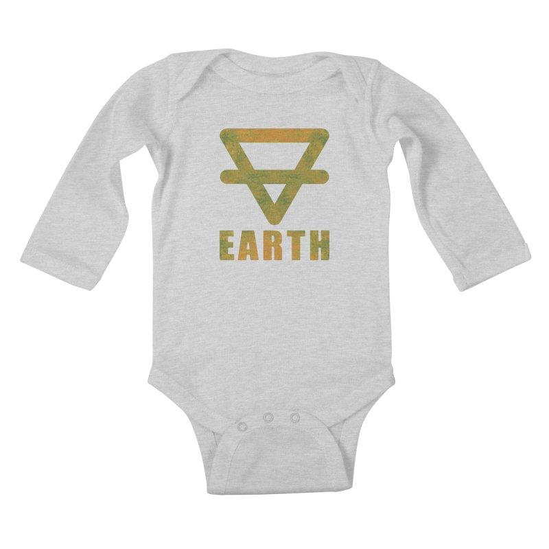Earth Sign Kids Baby Longsleeve Bodysuit by earthfiredragon