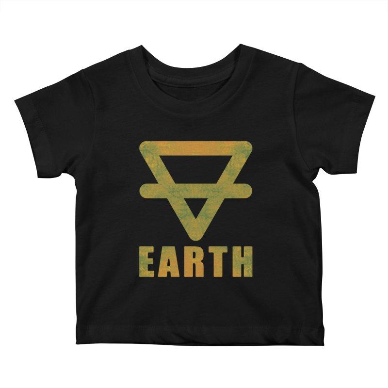 Earth Sign Kids Baby T-Shirt by earthfiredragon