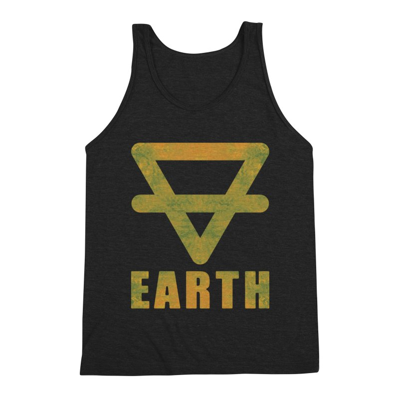 Earth Sign Men's Triblend Tank by earthfiredragon