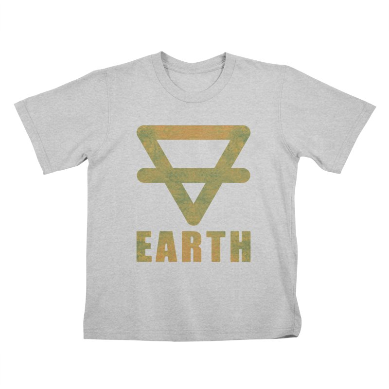 Earth Sign Kids T-Shirt by earthfiredragon