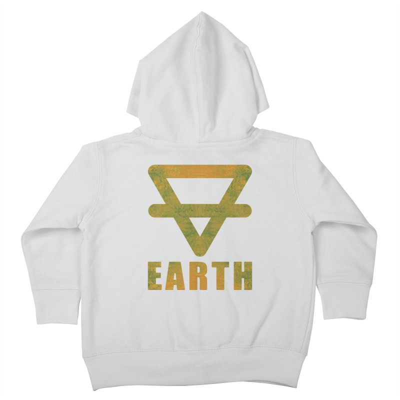 Earth Sign Kids Toddler Zip-Up Hoody by earthfiredragon