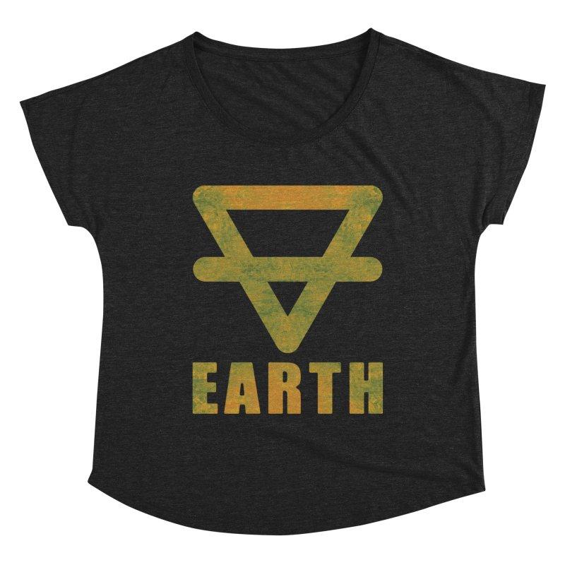 Earth Sign Women's Dolman Scoop Neck by earthfiredragon