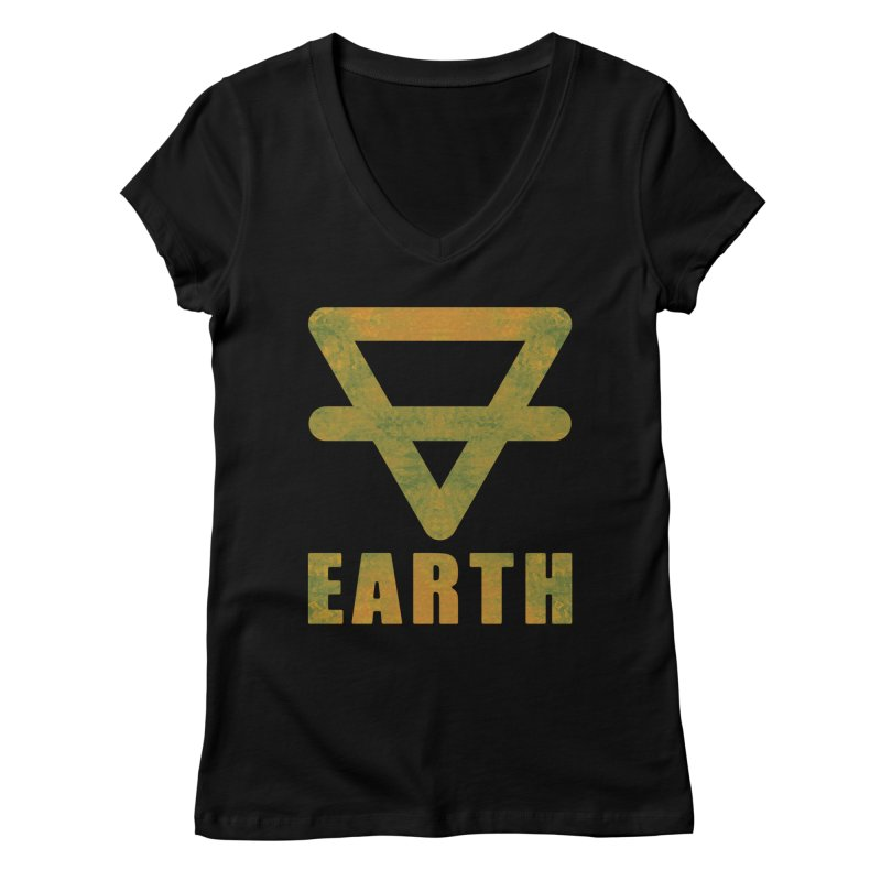 Earth Sign Women's Regular V-Neck by earthfiredragon