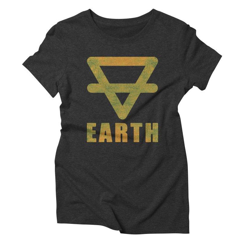 Earth Sign Women's Triblend T-Shirt by earthfiredragon
