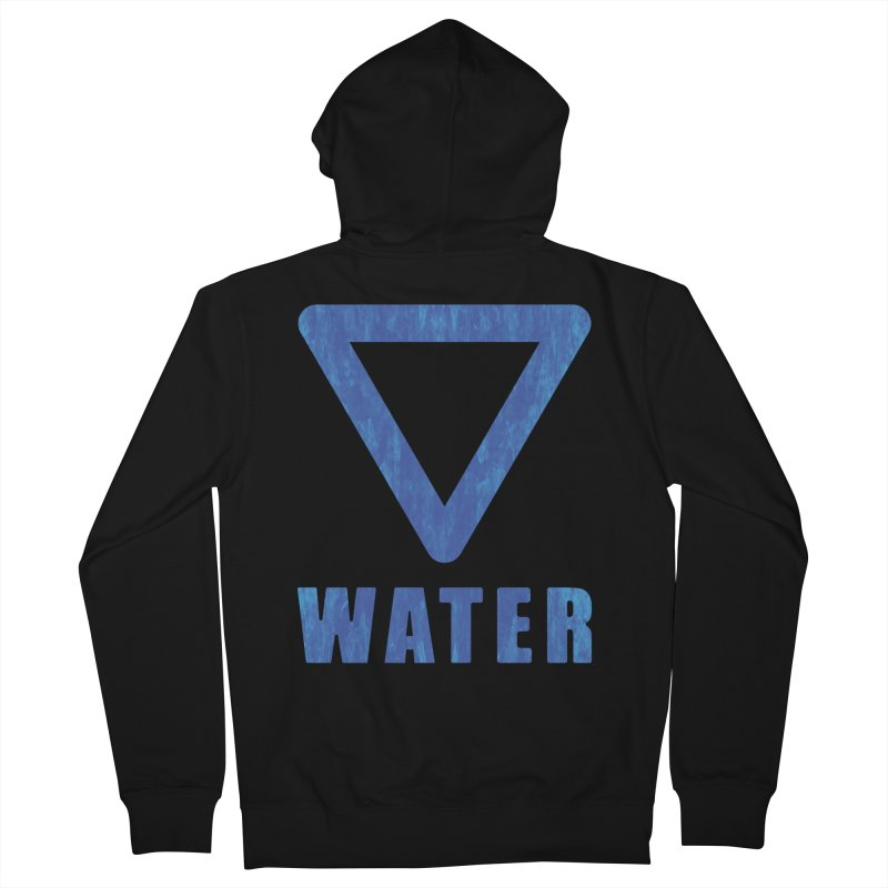Water Sign Men's Zip-Up Hoody by earthfiredragon