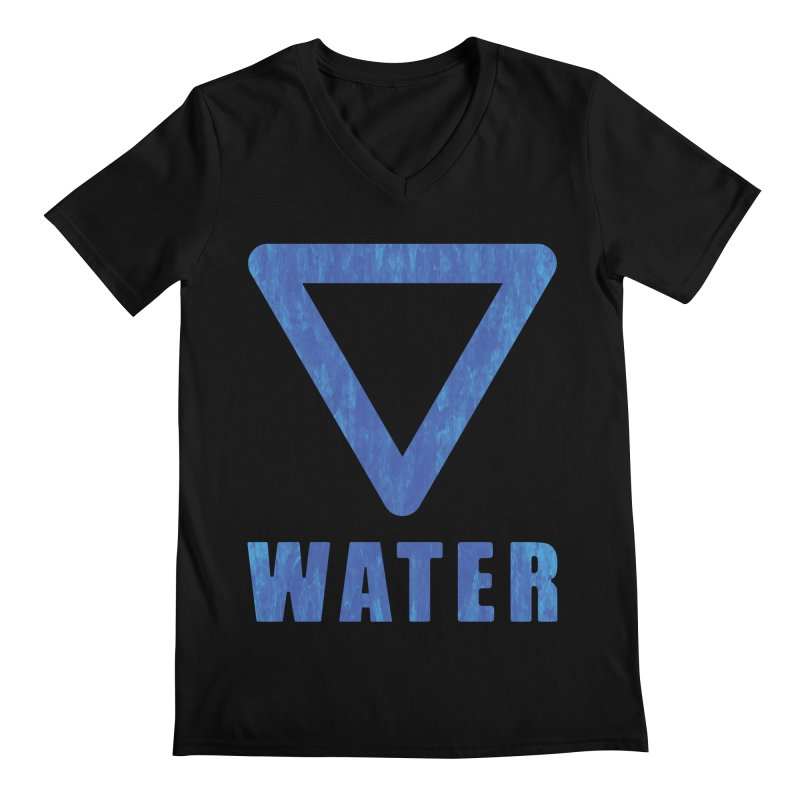 Water Sign Men's V-Neck by earthfiredragon