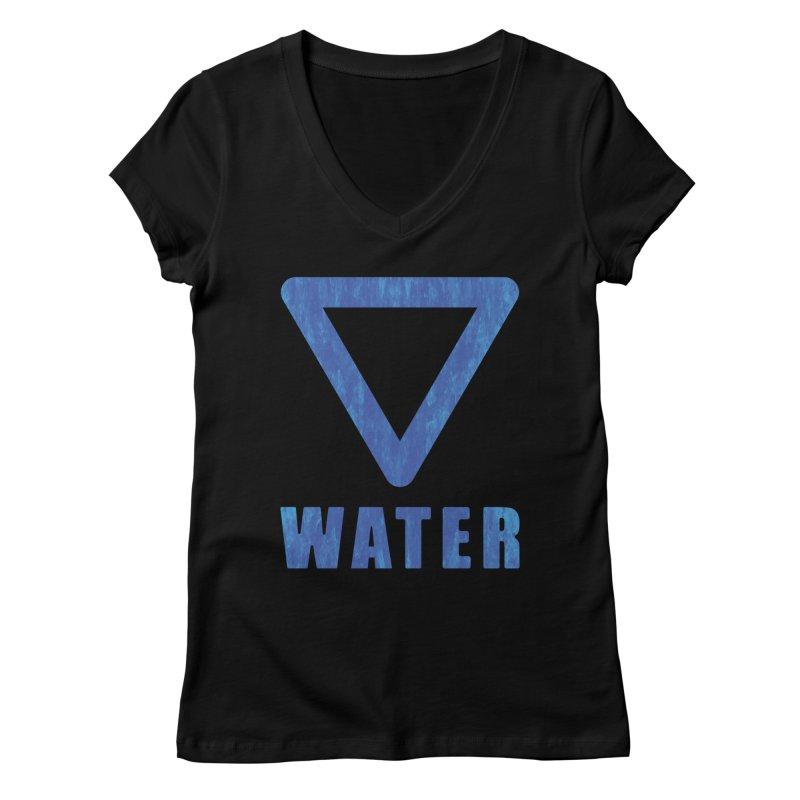 Water Sign Women's V-Neck by earthfiredragon