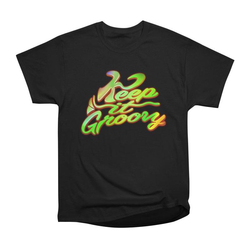 Keep It Groovy Men's Heavyweight T-Shirt by earthfiredragon