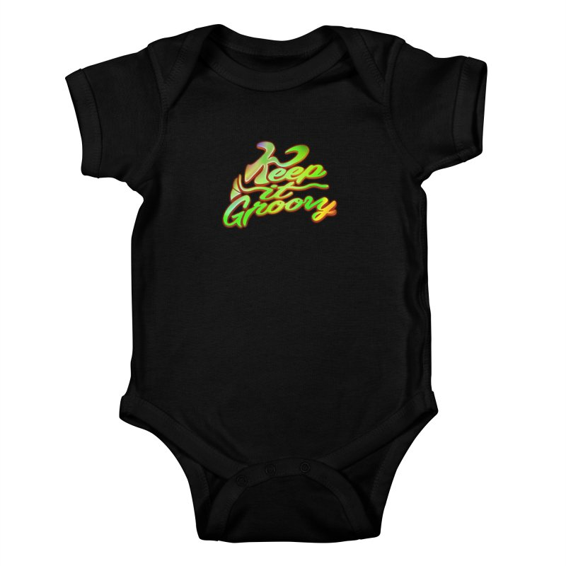 Keep It Groovy Kids Baby Bodysuit by earthfiredragon