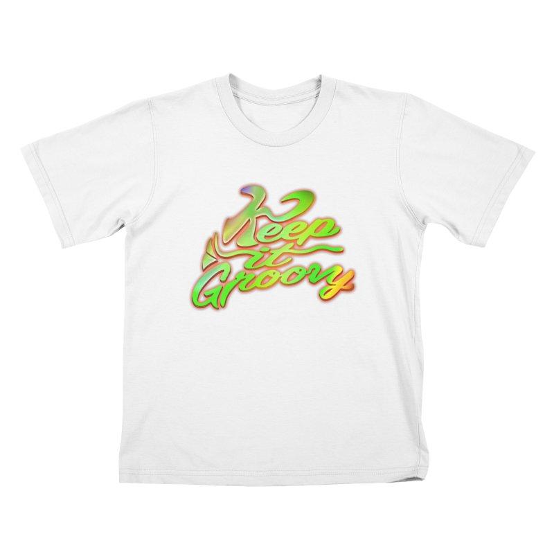 Keep It Groovy Kids T-Shirt by earthfiredragon