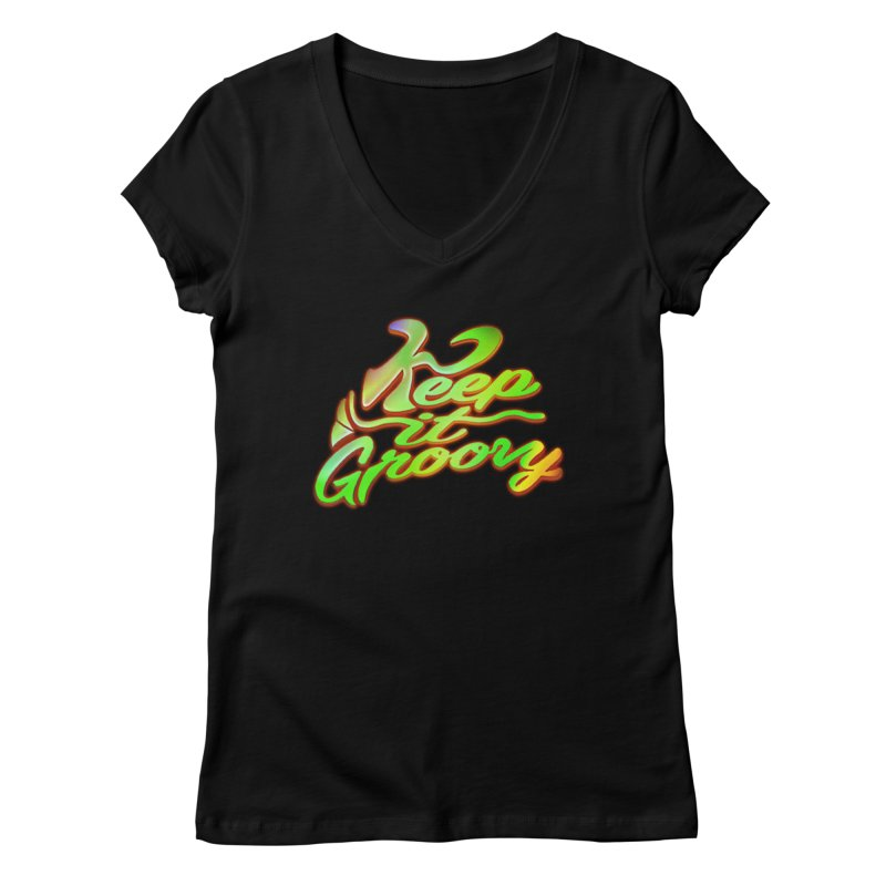 Keep It Groovy Women's Regular V-Neck by earthfiredragon