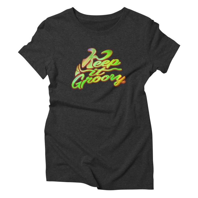Keep It Groovy Women's Triblend T-Shirt by earthfiredragon