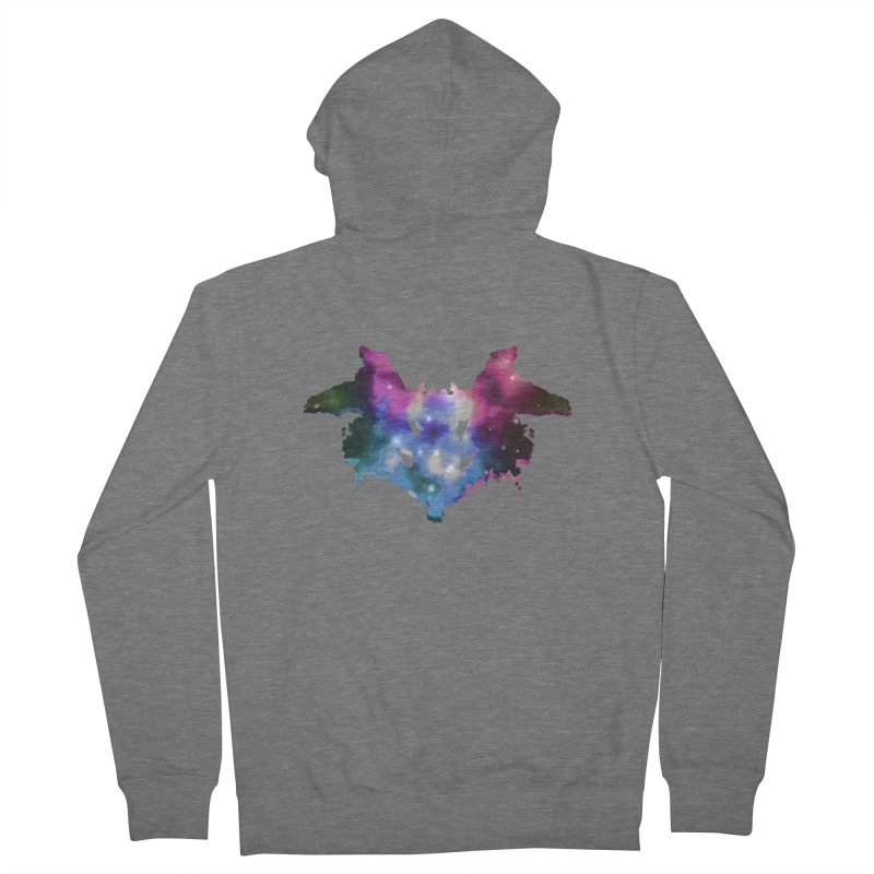 space rorschach Women's Zip-Up Hoody by earthfiredragon