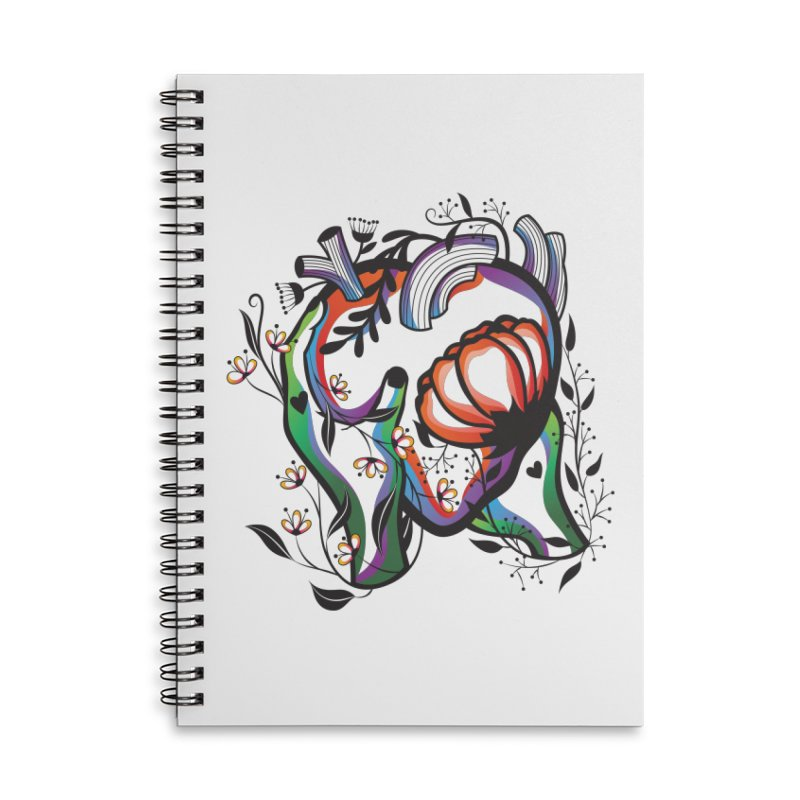 Pablo Neruda Love Poem (1) - Sonnet XVII Accessories Lined Spiral Notebook by Eastern Cloud's Artist Shop