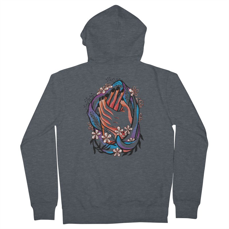 Pablo Neruda Love Poem (4) - Sonnet XVII Women's French Terry Zip-Up Hoody by Eastern Cloud's Artist Shop