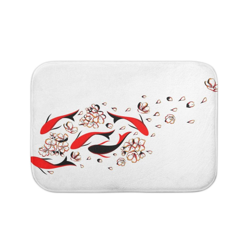 Women Warrior (4) - Fishes in the pond Home Bath Mat by Eastern Cloud's Artist Shop