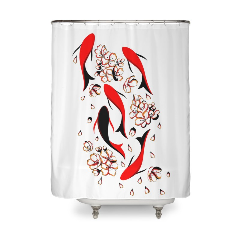 Women Warrior (4) - Fishes in the pond Home Shower Curtain by Eastern Cloud's Artist Shop