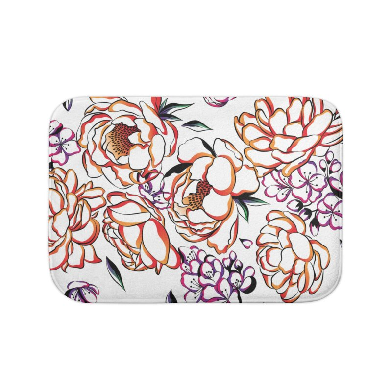 Women Warrior - Blooming flowers Home Bath Mat by Eastern Cloud's Artist Shop