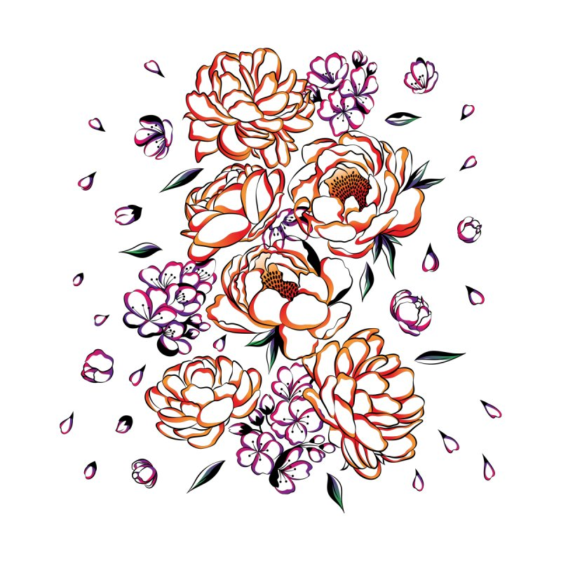 Women Warrior - Blooming flowers by Eastern Cloud's Artist Shop