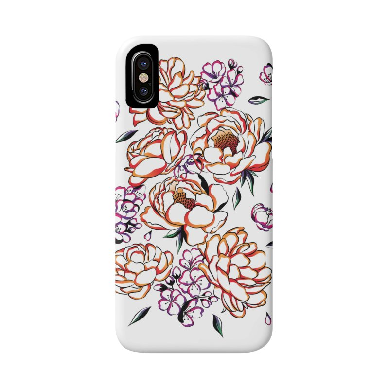 Women Warrior - Blooming flowers Accessories Phone Case by Eastern Cloud's Artist Shop