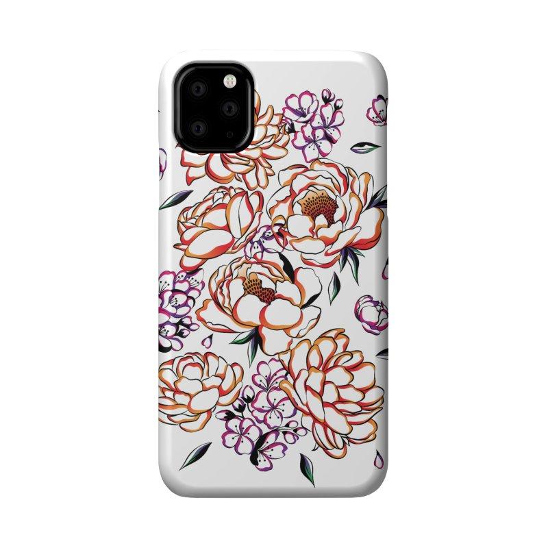 Women Warrior - Blooming flowers Accessories Phone Case by Eastern Cloud's Artist Shop