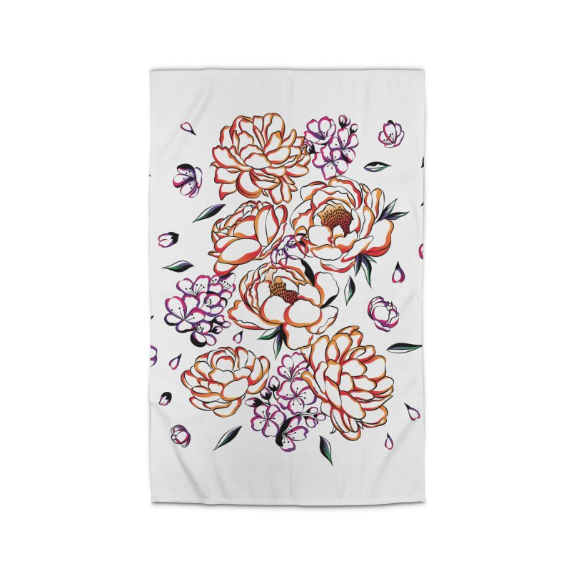 Women Warrior - Blooming flowers Home Rug by Eastern Cloud's Artist Shop