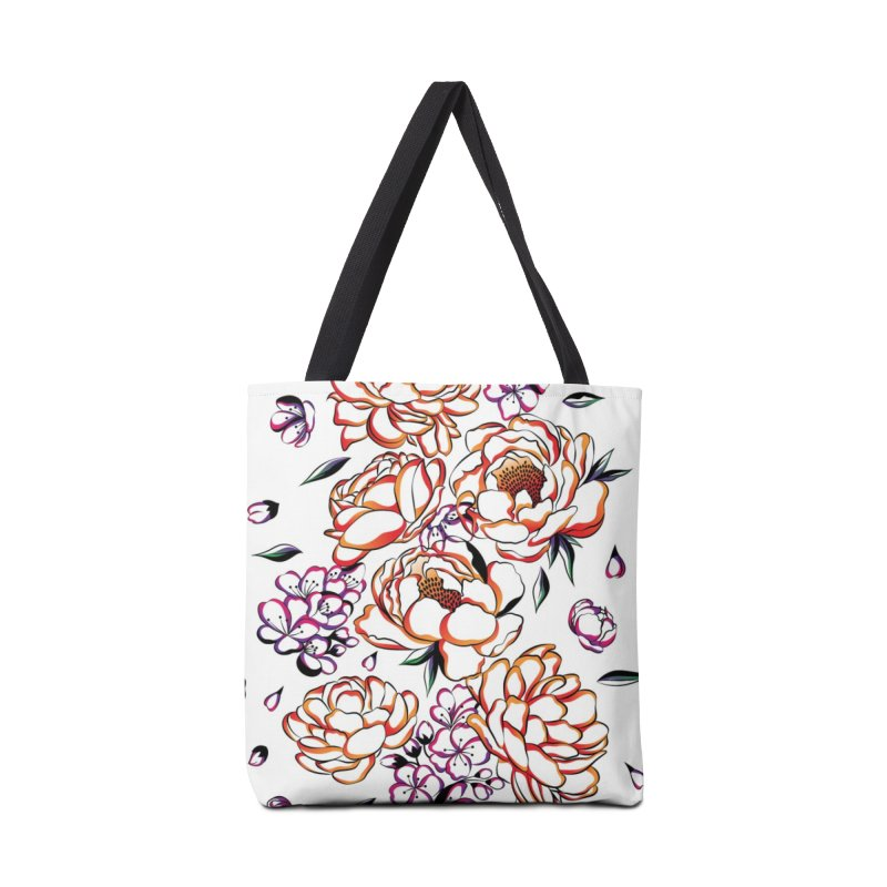 Women Warrior - Blooming flowers Accessories Bag by Eastern Cloud's Artist Shop